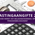Belastingaangifte 2019 pensioenbeleggen