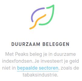 Duurzaam beleggen op Peaks.com maart 2020